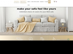 Cover your favorite sofa with Soferia cover.